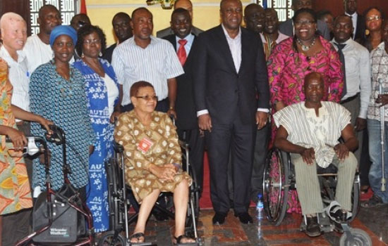 Inclusion Ghana participates in delegation to meet the President