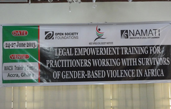 Inclusion Ghana presented at the Legal Empowerment Training organised by Open Society